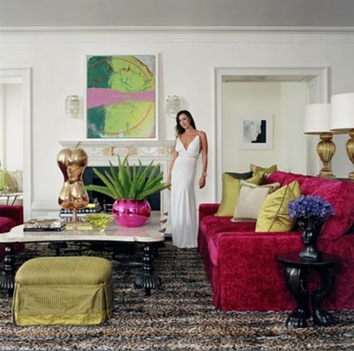 Tamara Mellon, founder of Jimmy Choo shoes, in her Nottingham apartment.