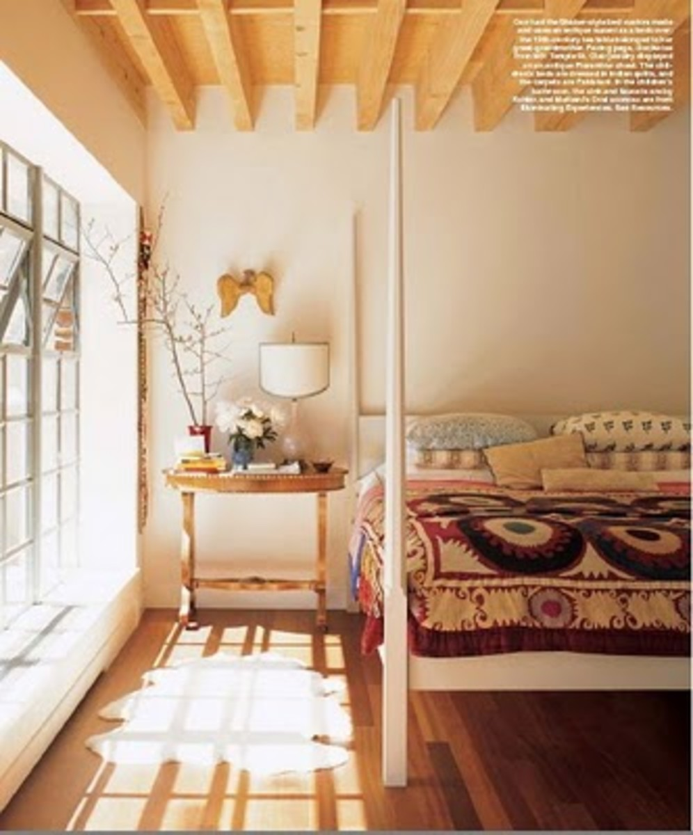 Sunny, Temple St. Clair Carr bedroom.