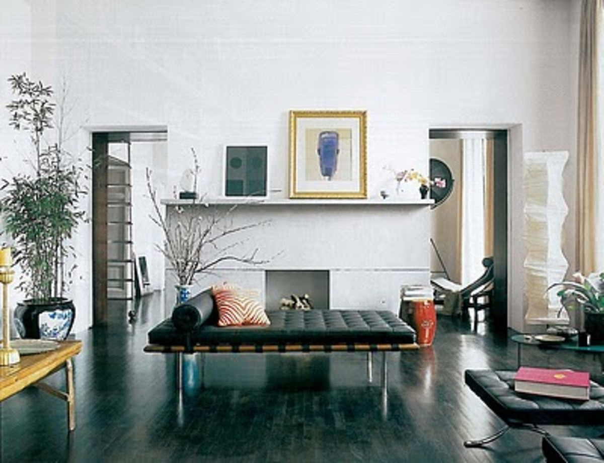 Living room of jewelry designer, Carlos Souza, in Rome.