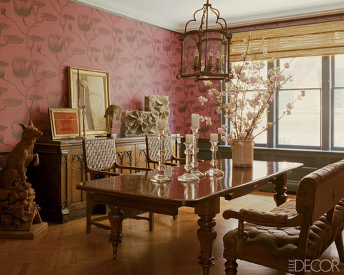 Dining room of Glen Senk, Anthropologie president.