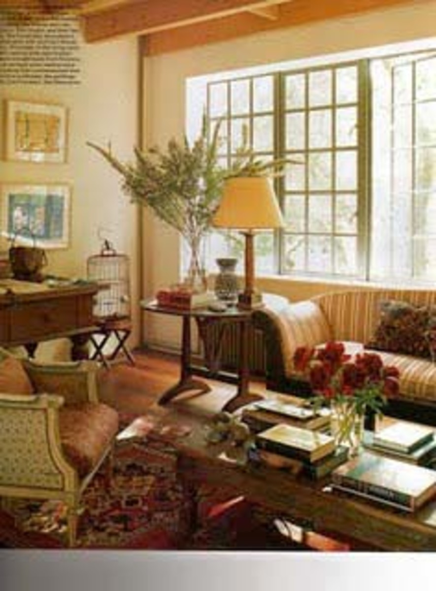 Manhattan living room of jewelry designer, Temple St. Clair Carr.