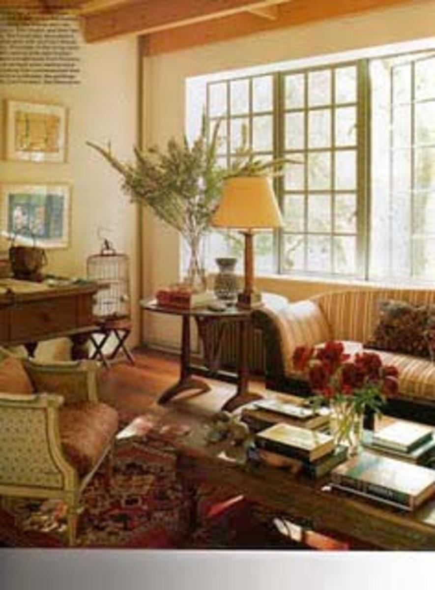 Manhattan living room of jewelry designer, Temple St. Clair Carr.