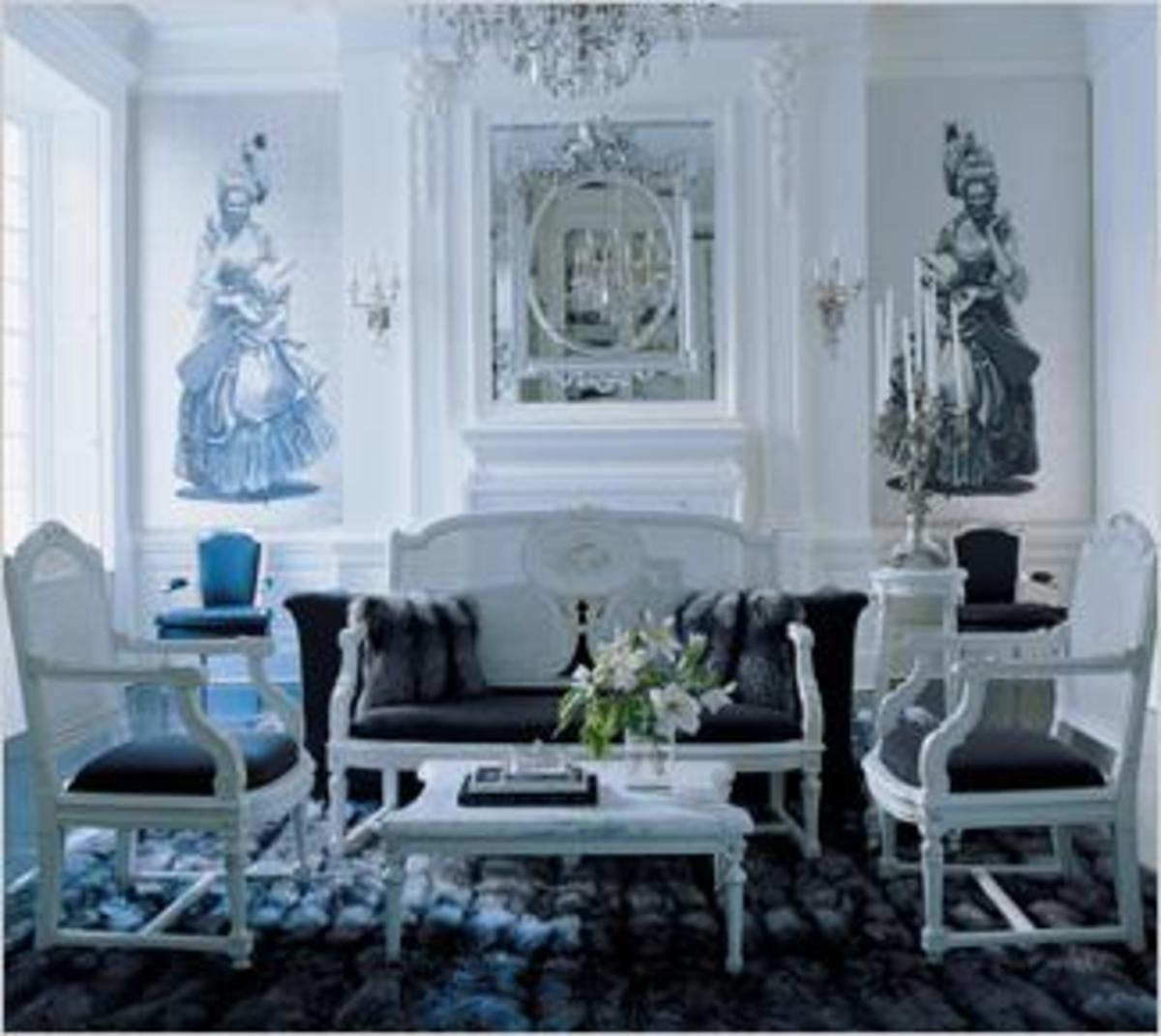 Living room of Manhattan designer, Zang Toi.