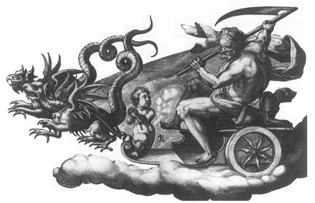 Saturn in his chariot.