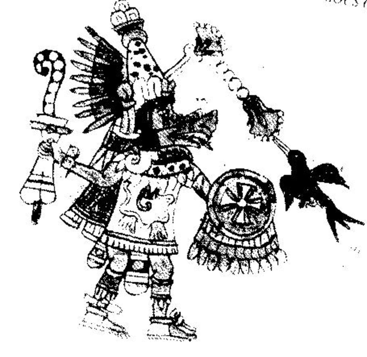 Quetzalcoatl, Plumed Serpent. A benevolent god.