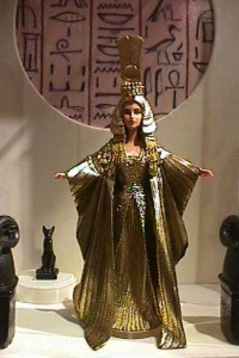Egyptian Cleopatra Barbie Doll in Elizabeth Taylor Likeness