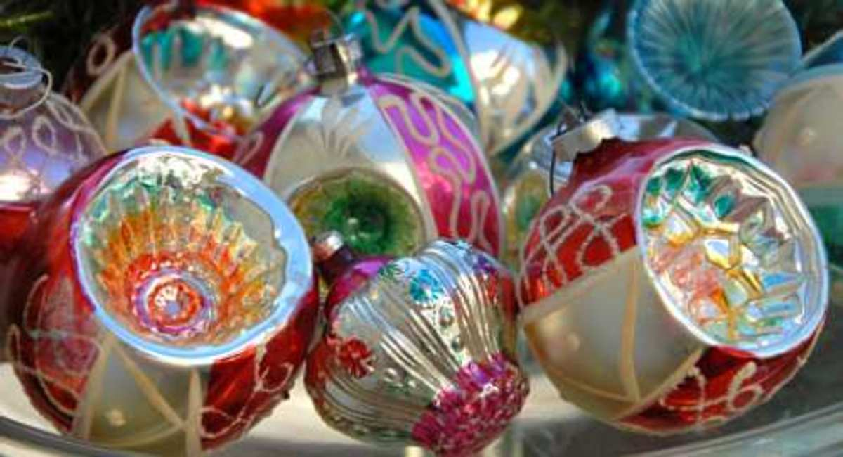 Glass Vintage Christmas Tree Decorations
