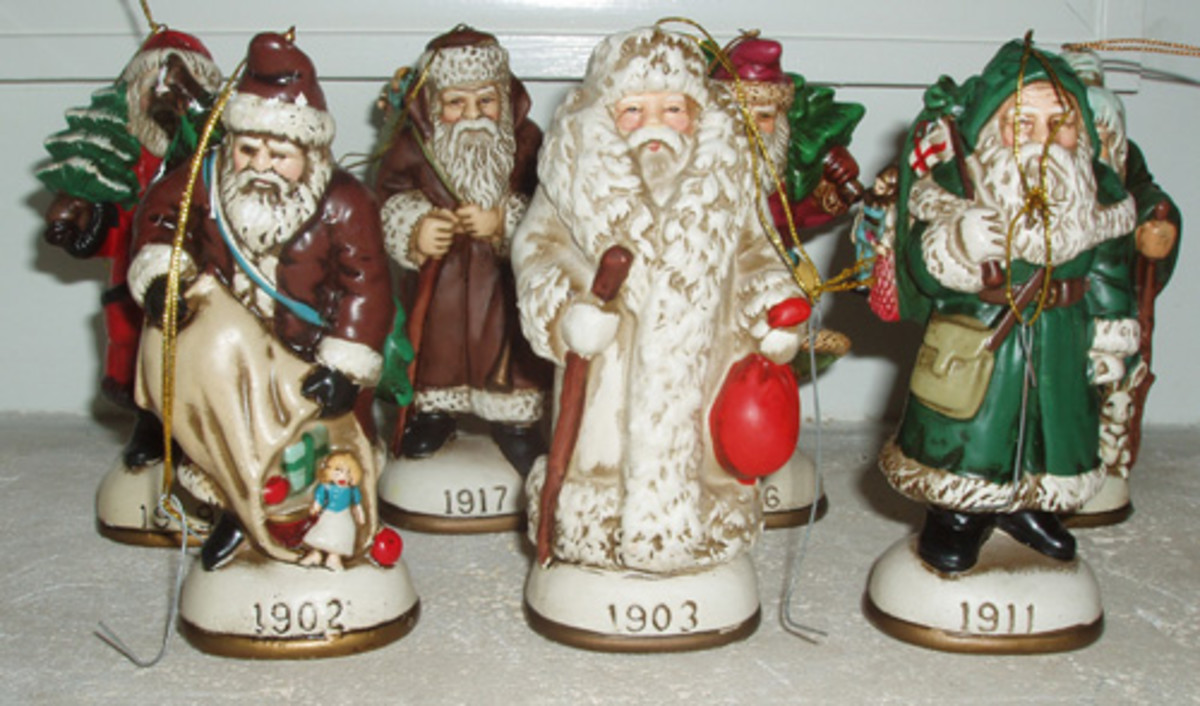 Vintage Santa Decorations Collection
