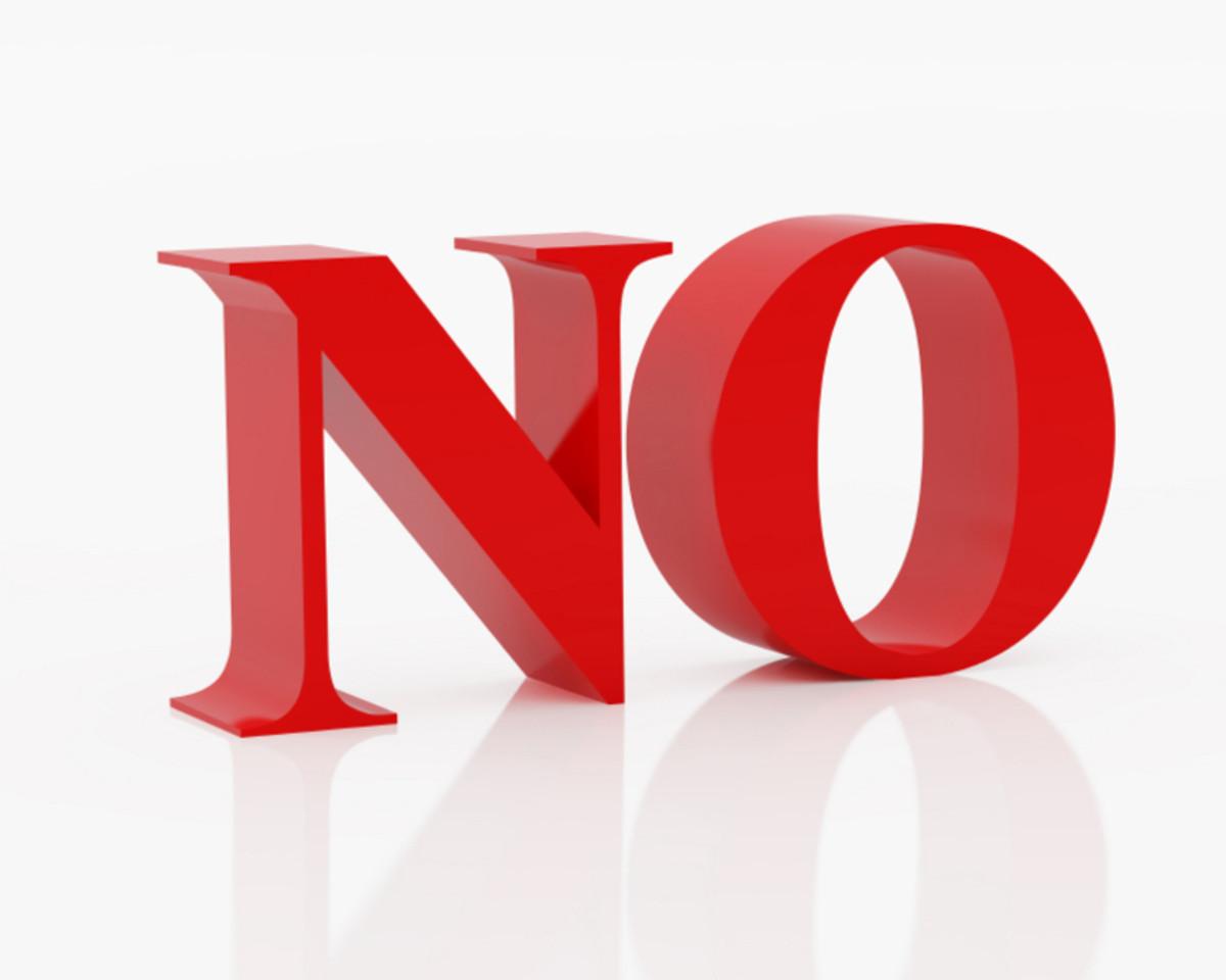 Saying No to Men
