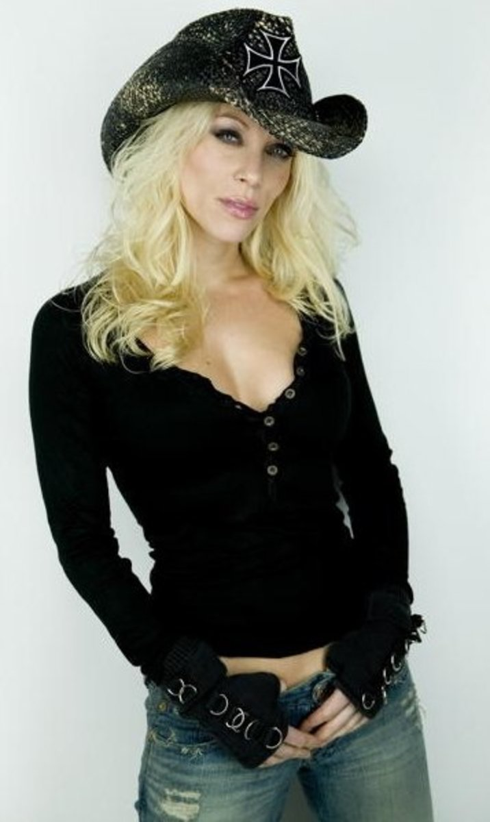 8. Angela Gossow of Arch Enemy - Now, Ive only heard a few of their songs. But, this chick can scream like no other!