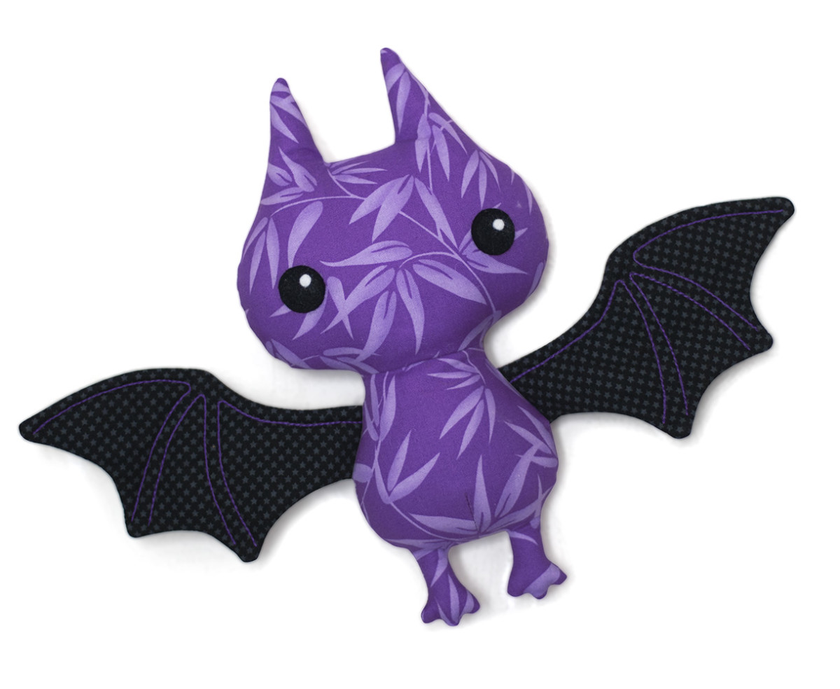 Very cute stuffed bat pattern. A lovely animal pattern that is easy to sew.