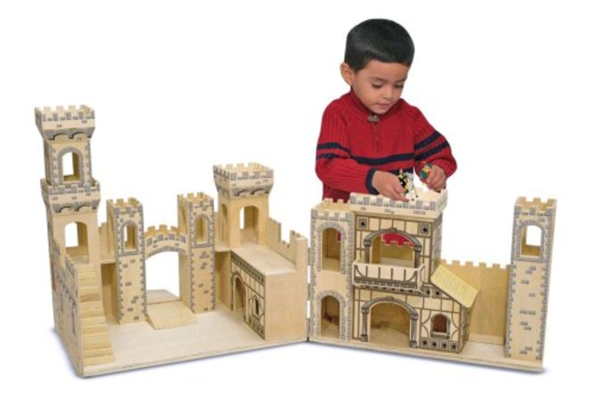 Toy Castles For Boys : Childrens toy wooden castles and forts for kids both boys