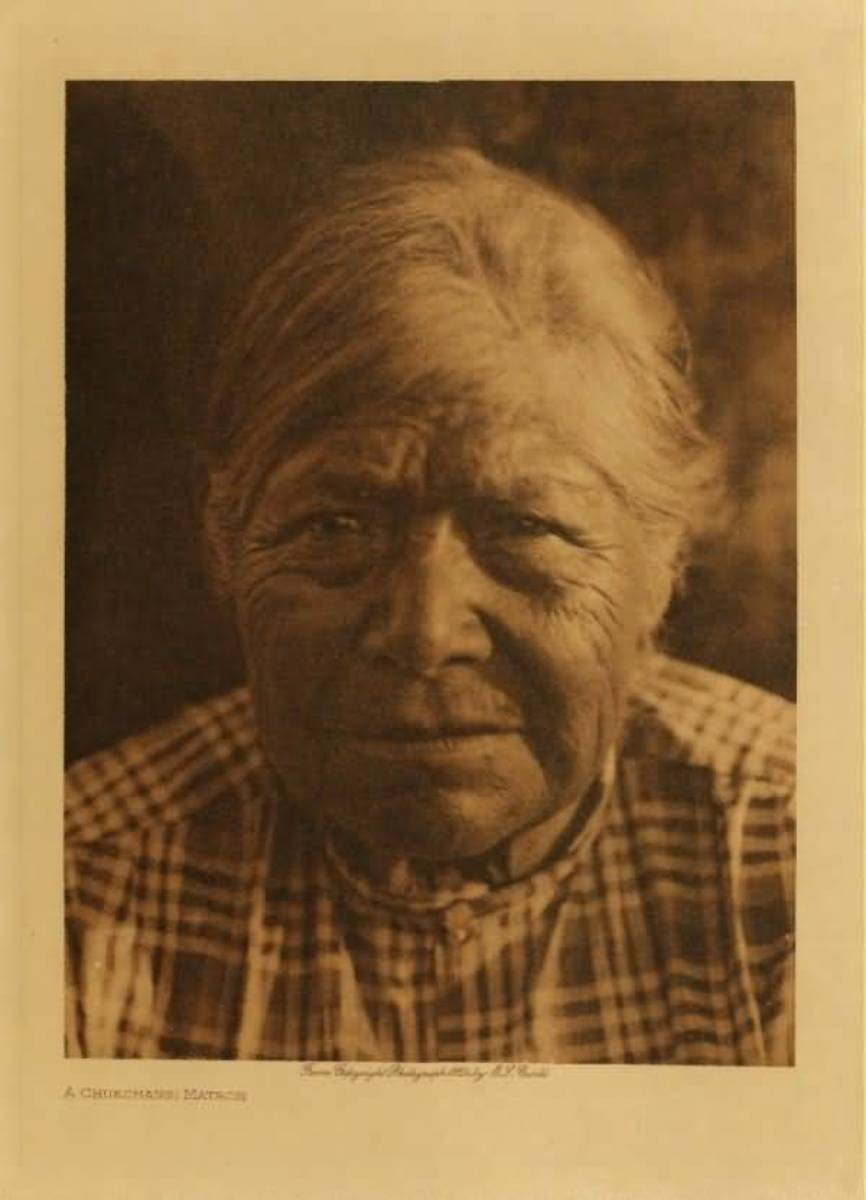 Chukchansi Matron by Edward S. Curtis 1924