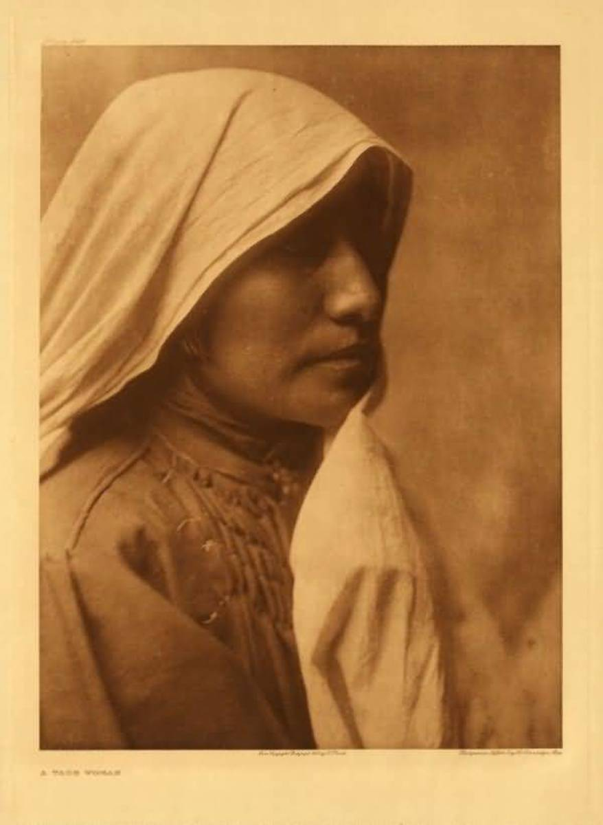 Taos Woman by Edward S. Curtis 1905