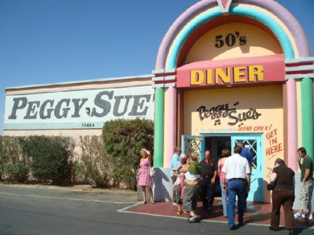 Peggy Sue's 50's Diner in Yermo California