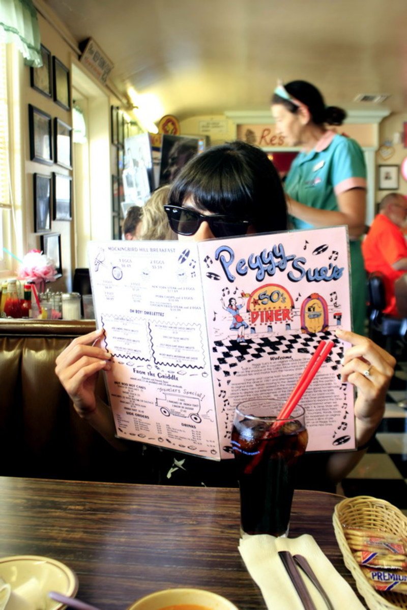 Celebrities, travelers, truck drivers, and locals are among the visitors at Peggy Sue's 50's Diner.