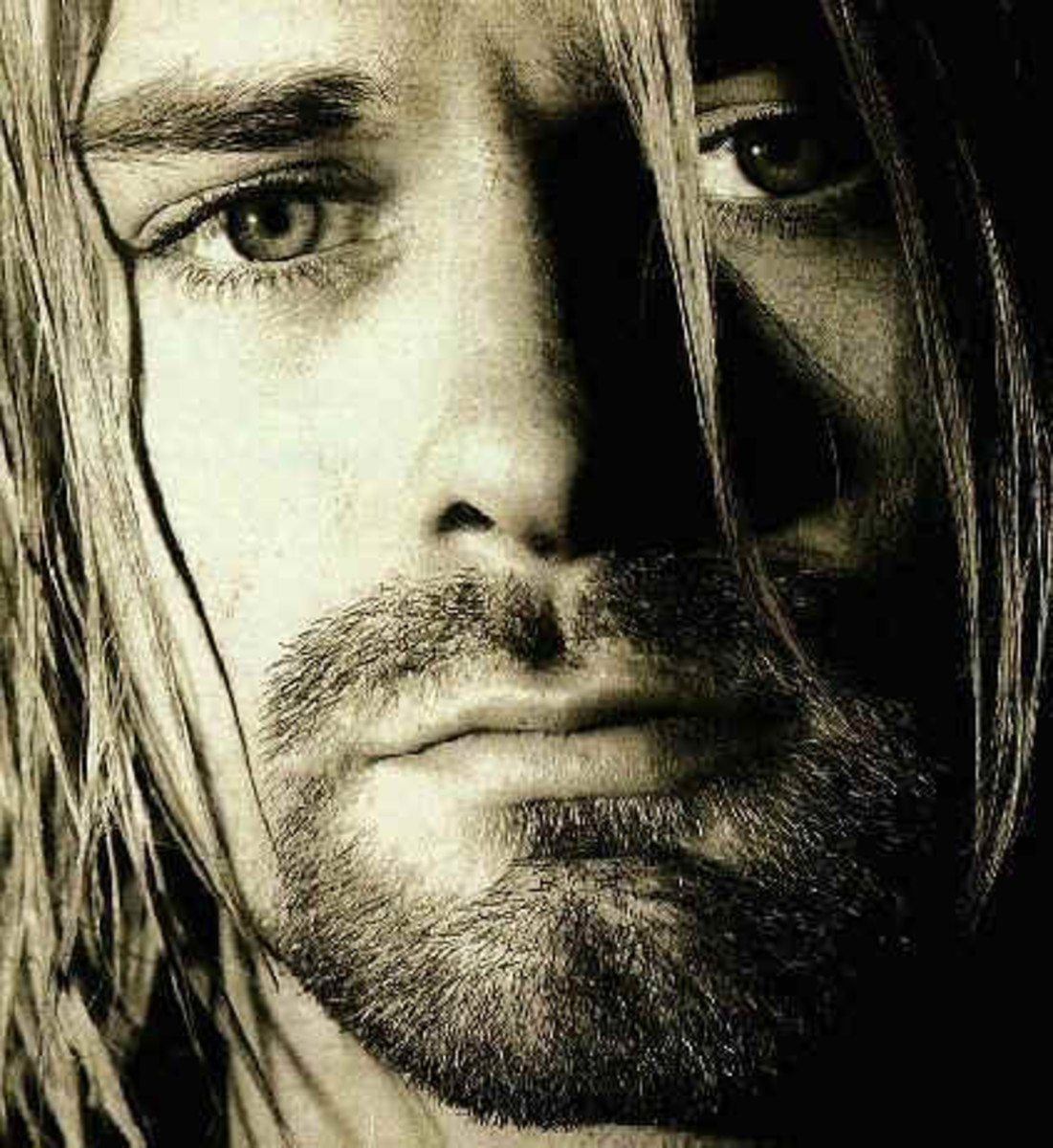 1. Kurt Cobain of Nirvana - The king of the rock/metal world. Long gone and still the most gorgeous rocker of all time.