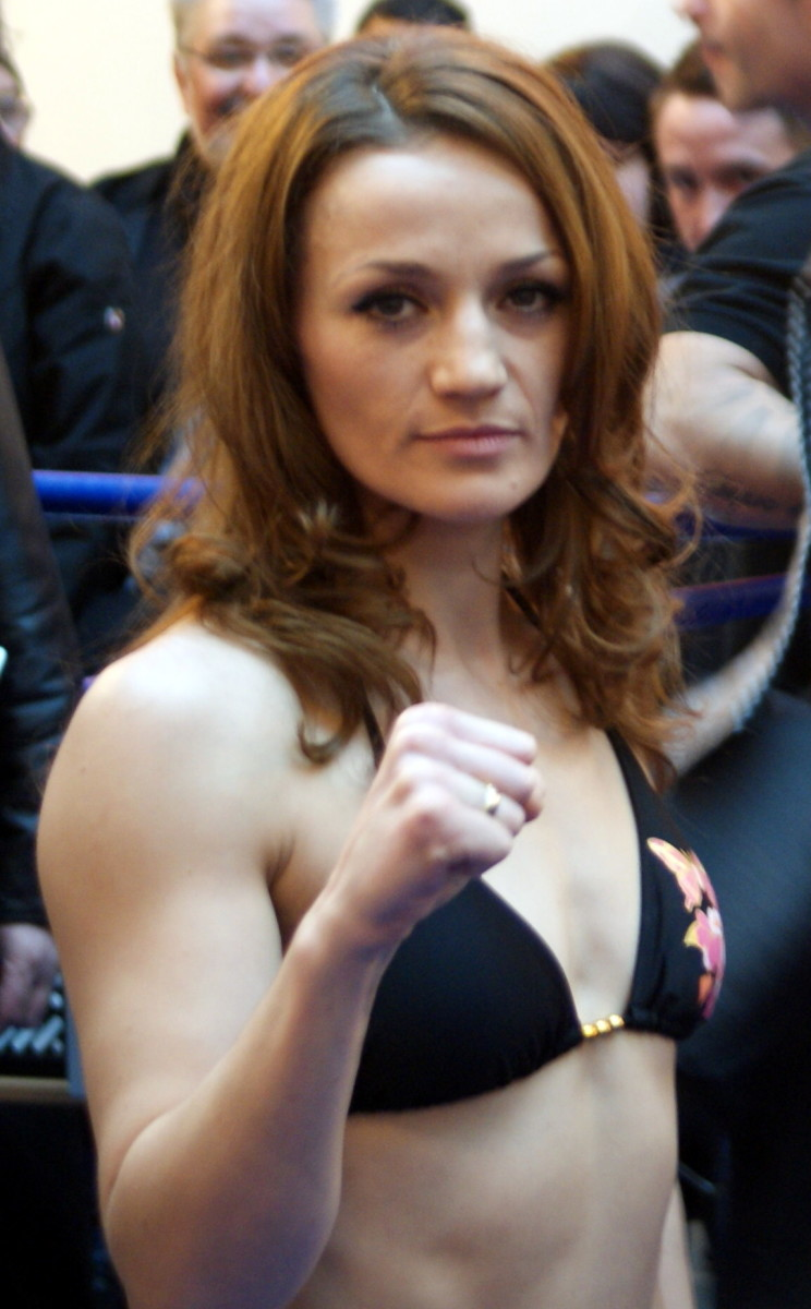 Female boxer Ina Menzer