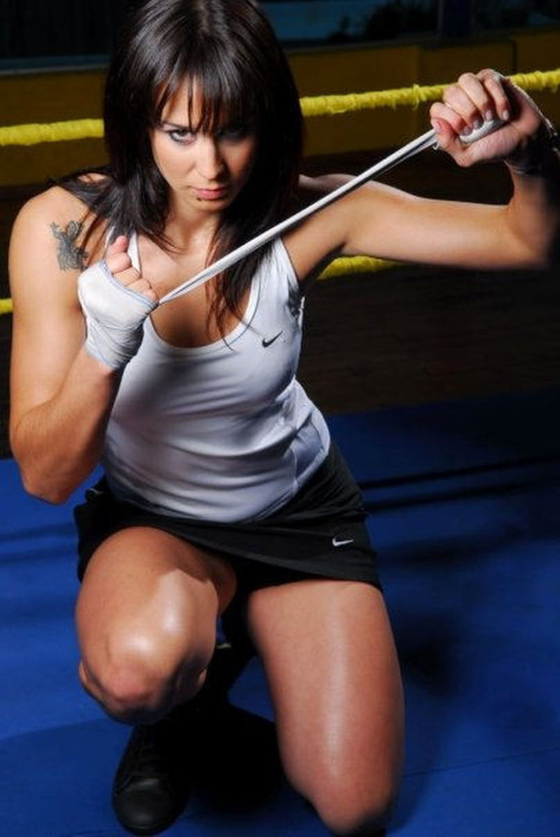 Female Boxer Chris Namus