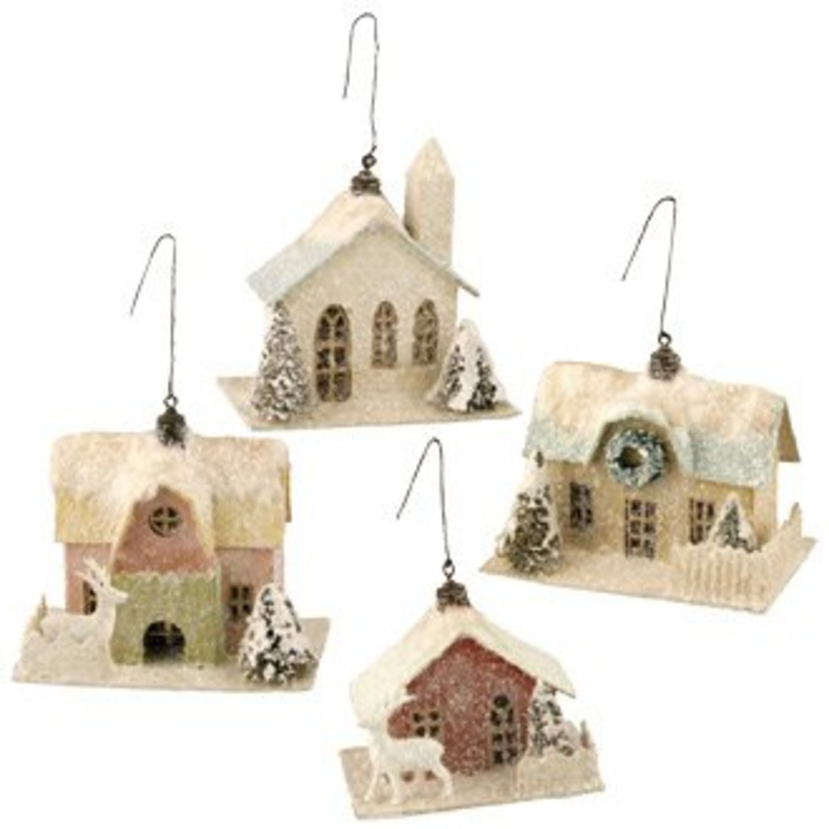 Vintage Christmas Tree Decorations- Village Houses