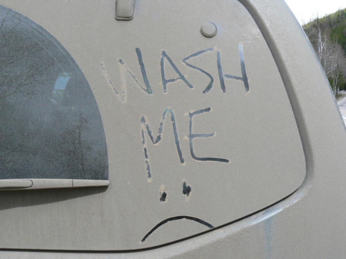 There is nothing sadder than a dirty car...take it to the car wash today!