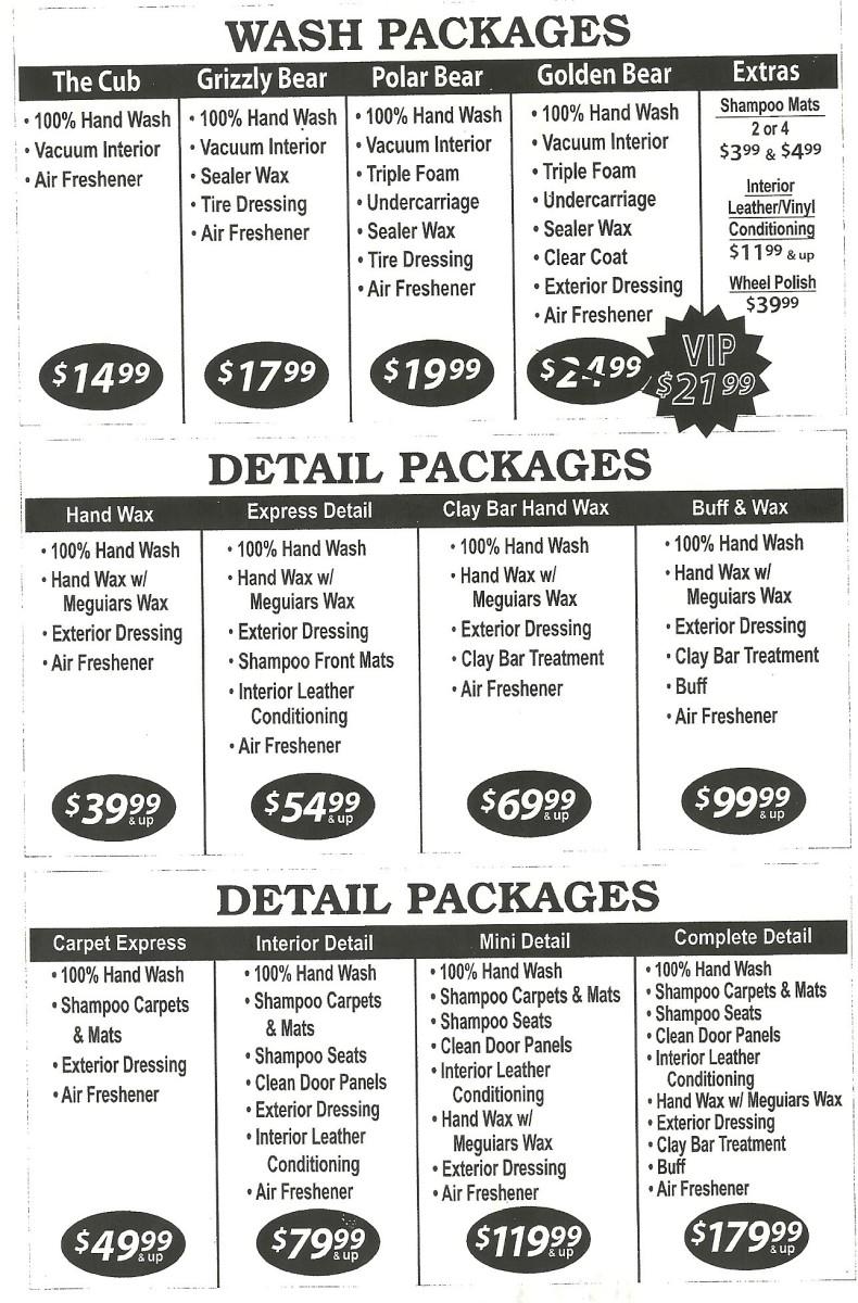 Mobile Car Wash Prices California