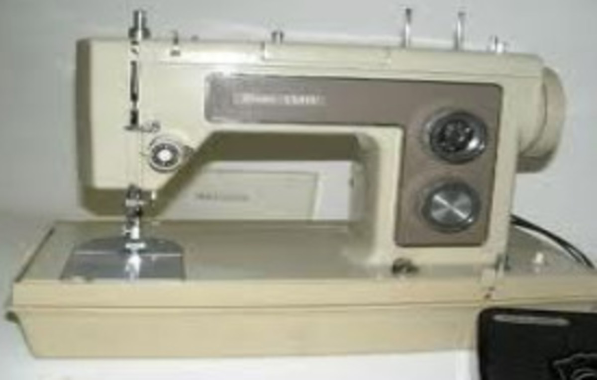 My first Kenmore sewing machine! What a great trouper she was.