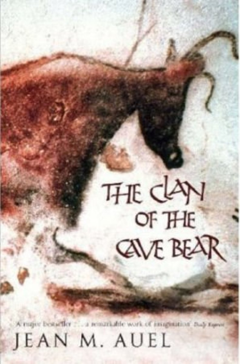 Clan of the Cave Bear. Cover showing prehistoric cave art