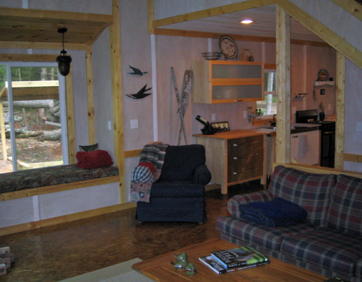 Rustic Flooring And Walls For Your Cabin Decor/Finished OSB Flooring