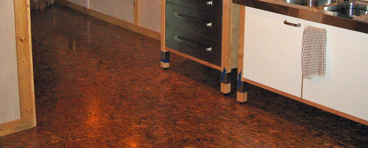 Finished OSB flooring
