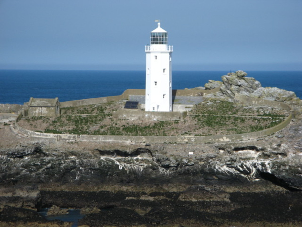 Godrevy Lighthouse, St Ives, Cornwall.