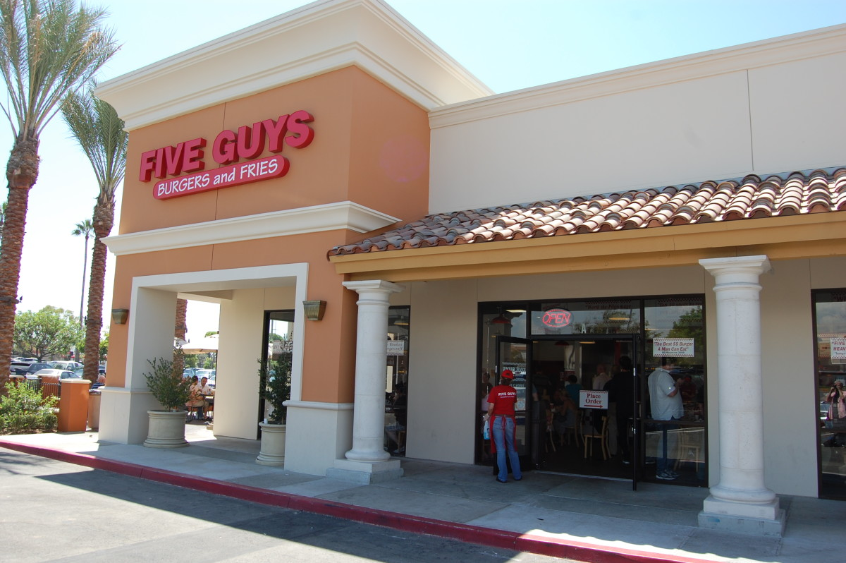 Starting in Virginia and the East Coast, Five Guys has expanded to over 625 locations in over 40 states and 4 Canadian provinces and is now in California