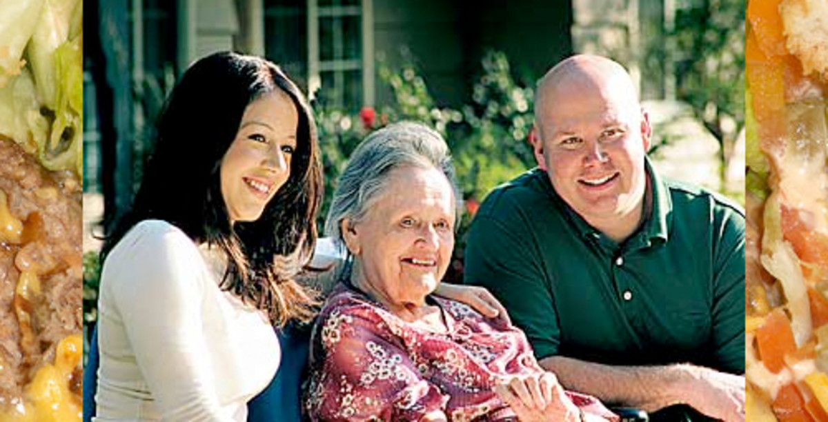 Lynsi Martinez (In-N-Out heir), Grandmother Esther Snyder, and Executive Mark taylor. Photo OC Register