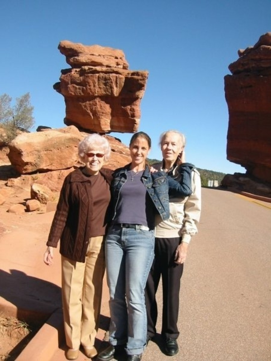Garden of the Gods with my grandparents
