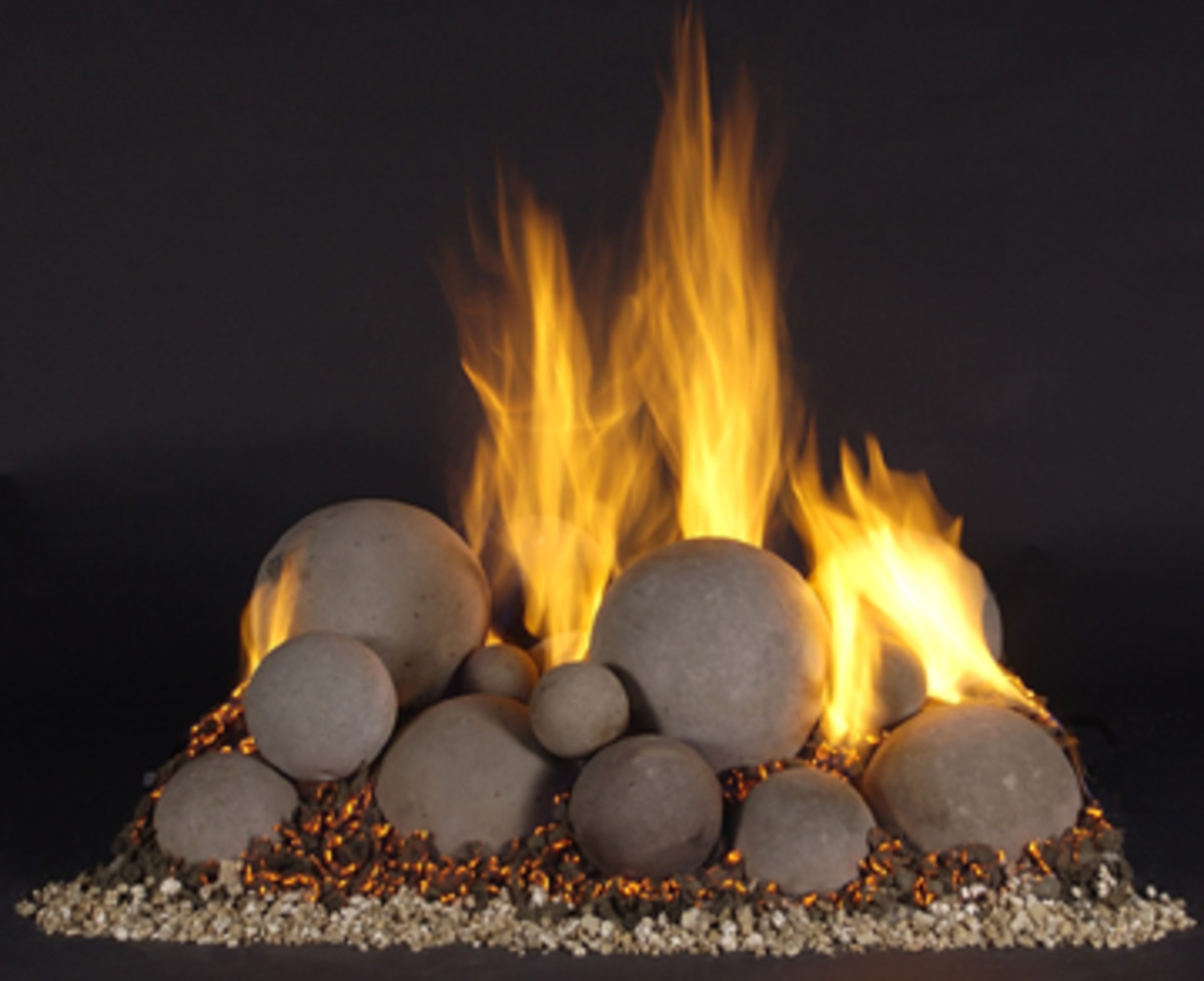 Fire Rocks, Stones & Rock Shapes -- Cool Fireplace Accessories