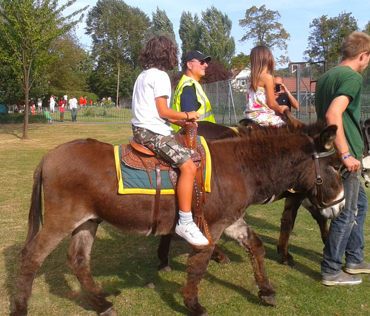 Donkey Rides at a Local London Fair