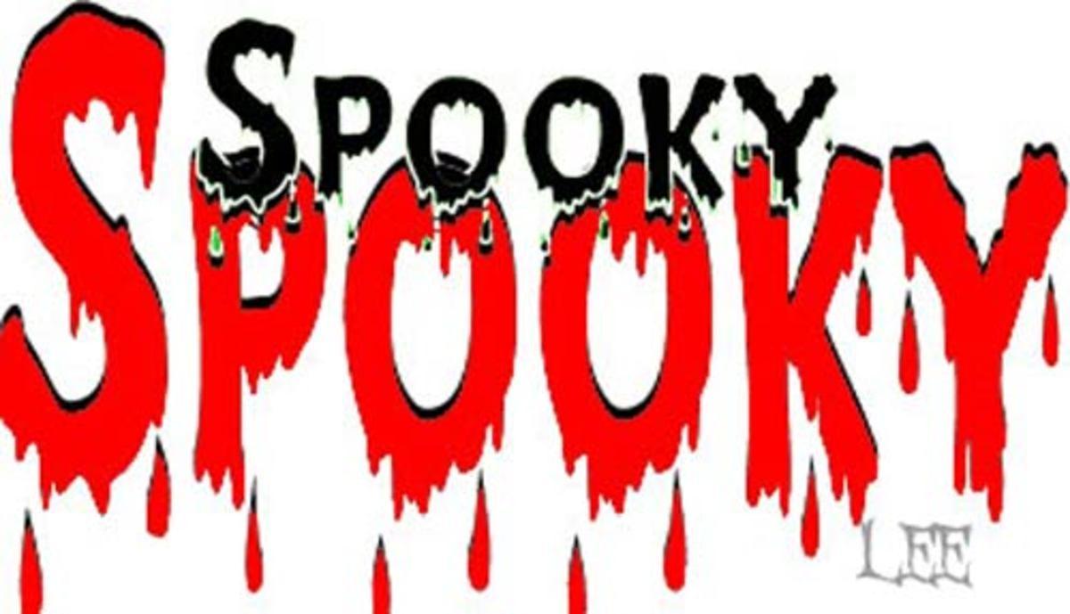 Spooky bloody word art