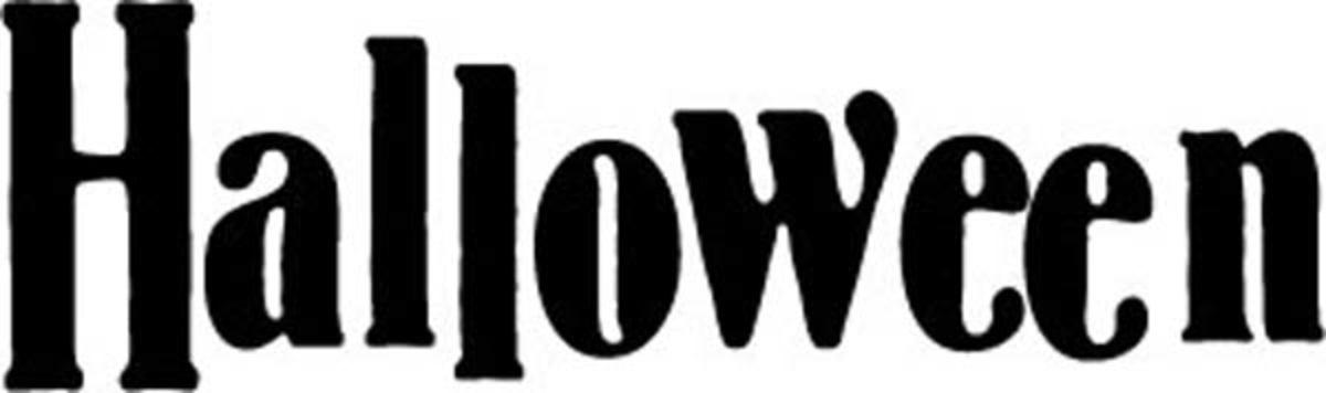 Halloween Banner Word Art