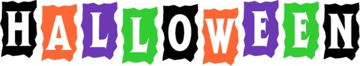 Halloween Word Art Banner