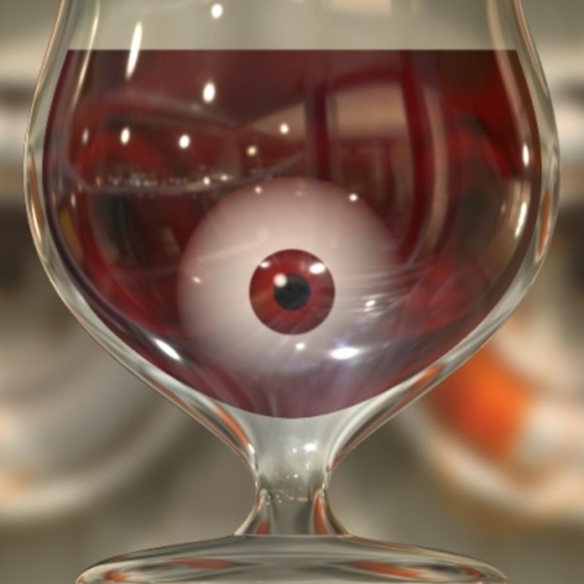 Add eyeballs to your Halloween drink