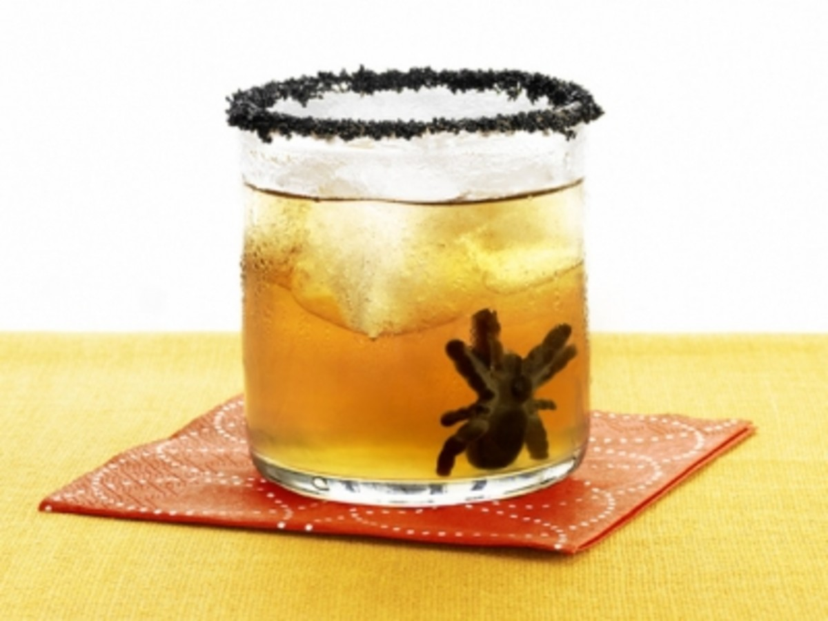 Spiders add a nice touch to a Halloween drink
