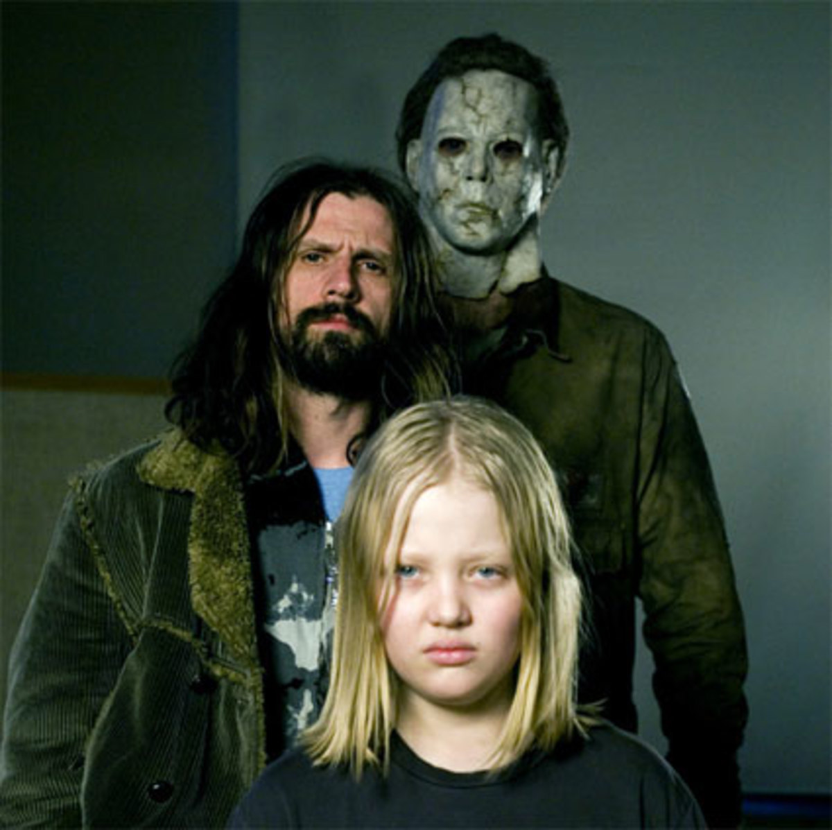 Young Michael Meyers, Rob Zombie and the masked killer
