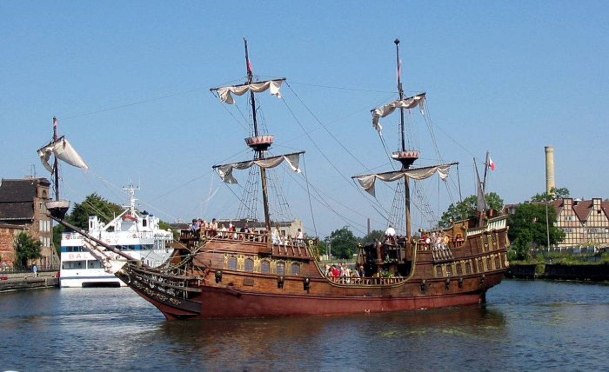 Was the wealth of nations transported to Oak Island in ships similar to this?