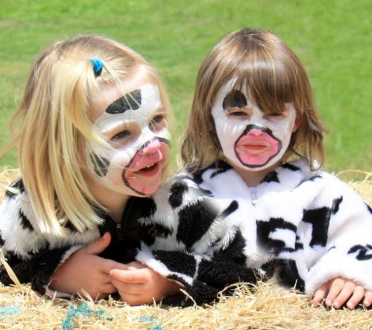 Cute cow face paint design