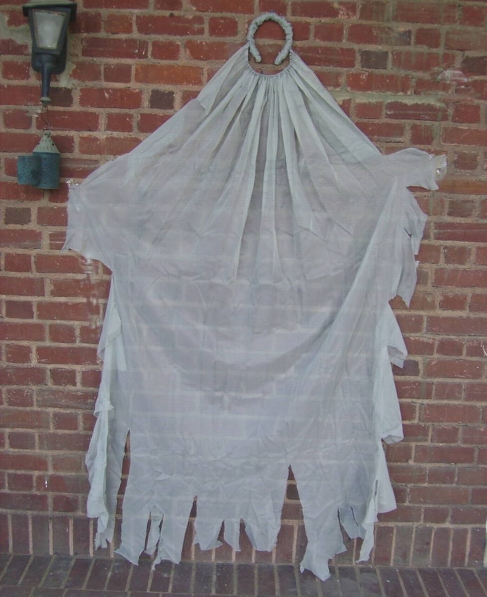 Veil, spread out to show size