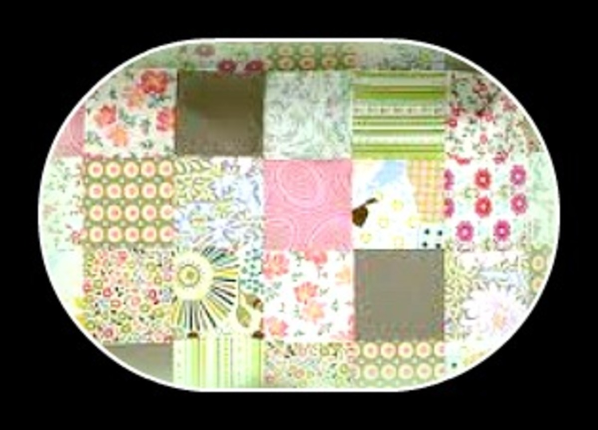 Regular patch quilt (not made of baby clothes)