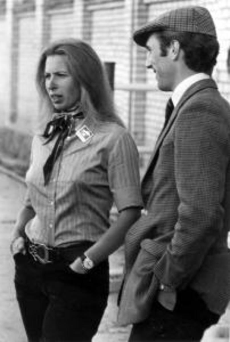 HRH the Princess Anne and Captain Mark Phillips around the time of the incident