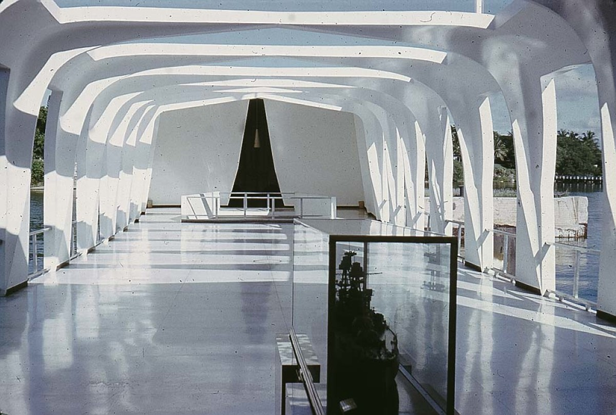 Interior of the U.S.S. Arizona Memorial