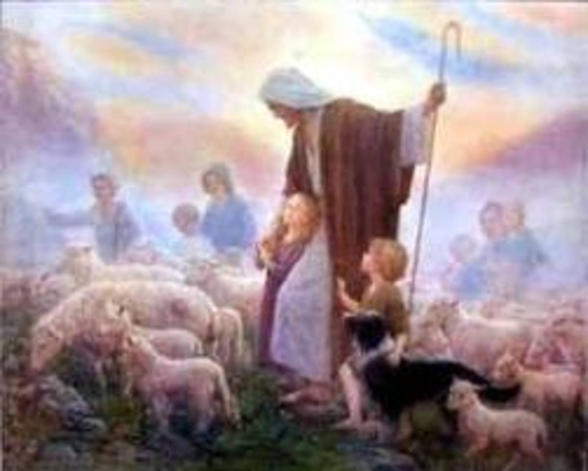 "John 10:28 ""My sheep hear My voice, and I know them, and they follow Me"""