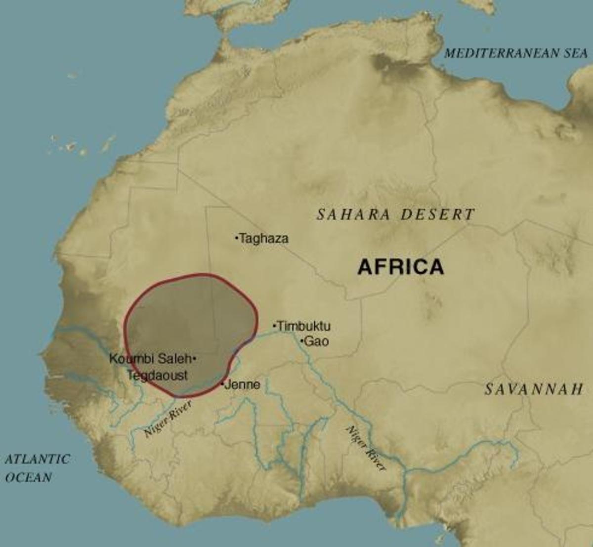 Ancient Ghana Map